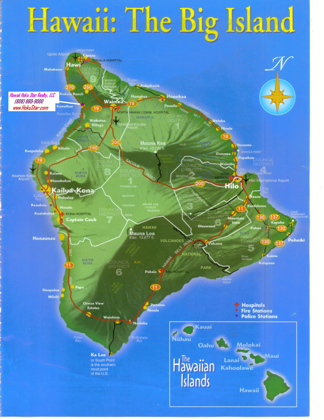 Pics Photos  Big Island Hawaii Map
